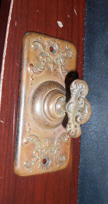 Vintage Victorian brass Door bell turn plate