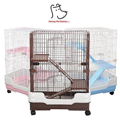 Homey Pet Small Animal Hamster Guinea Pig Chinchilla Ferret Cage Crate w Tray