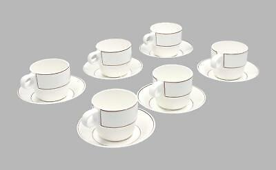 6 x Gustavsberg coffee cups & saucers Modernist Swedish