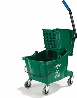 Carlisle 3690809 Commercial Mop Bucket With Side Press Wringer 26 Quart Capac...