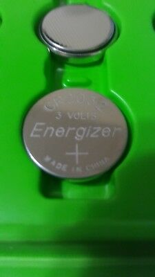 2 Pcs Fresh Genuine Energizer CR2032 3v Coin Cell Lithium Batteries 240mAh