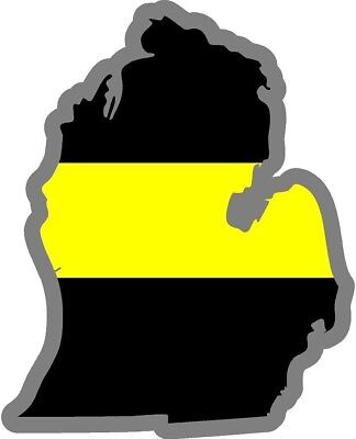 Thin Yellow Line Heart Decal Security Officer Tow Truck Driver Agent Var