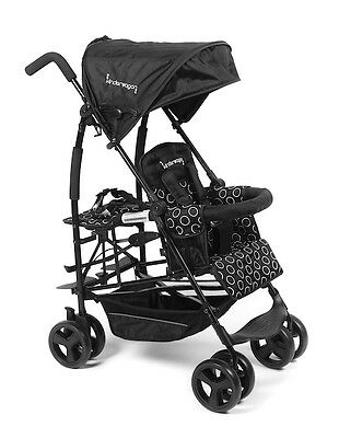 Kinderwagon - Jump Single Stroller for One or Two - Black - Brand New!! Open Box