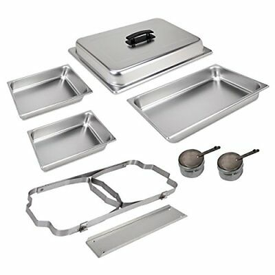 CATERING STAINLESS STEEL CHAFER CHAFING DISH SETS 8 QT PARTY PACK, New
