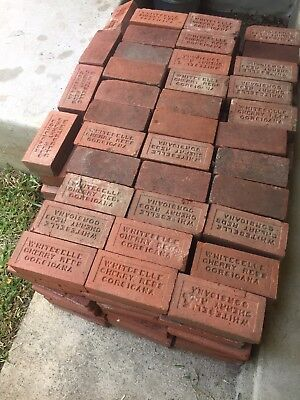 Antique Vintage Reclaimed WHITESELLE CHERRY REDS CORSICANA Red Paver Bricks (6)