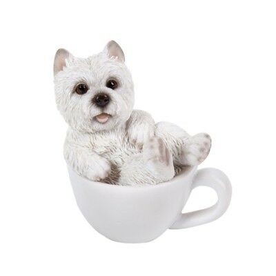 "Mini Teacup Pups  Series - Westie Pup Figurine 3"" - New In Box - Free Ship"