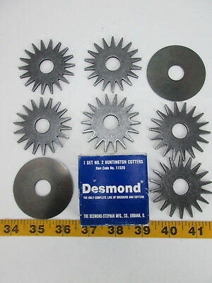 "1 HUNTINGTON CUTTER HOLE 1//2/"" SET OF 2 NEW GRINDING WHEEL DRESSER NO 2"