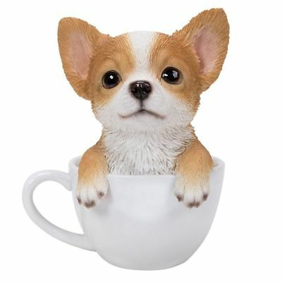 """Teacup Pups  Series - Chihuahua Pup Figurine 6"""" - New In Box - Free Shipping"""