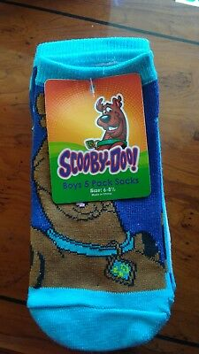 new scooby-doo boys 5 pk socks size 6-8 1/2
