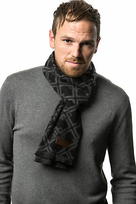 Winter Cashmere Feel Men Scarf,100% Cotton Fashion Scarves, In Elegant Gift Box