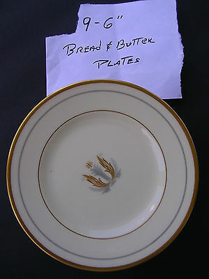 """Syracuse China,[ 8 - 6"""" B & B PLATES ]""""Made in U.S.A."""" GOVERNOR CLINTON Pattern"""