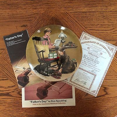 Vintage NIB - 1982 Edwin M Knowles FATHER'S DAY Collector Plate by Don Spaulding
