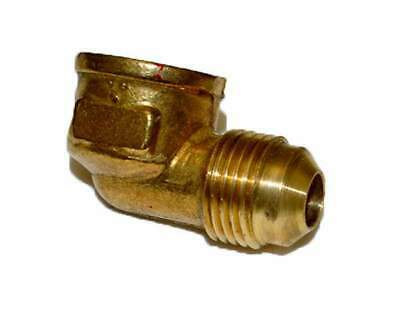 "HPC 90 Degree Female Elbow Brass Fitting, 3/8"" Tube, 3/8"" FIP"
