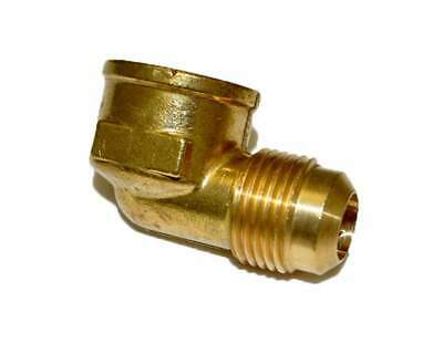 "HPC 90 Degree Female Elbow Brass Fitting, 1/2"" Tube, 1/2"" FIP"