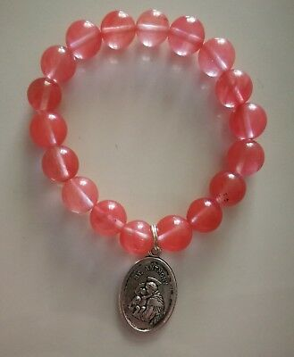 Code 413 Divine Inspirational Bracelet cherry quartz St Anthony Doreen Virtue