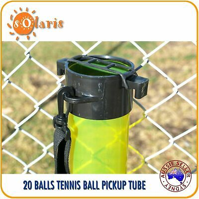 20-Ball Capacity Transparent Tennis Balls Pick Up Tube Clear Color Ball Hopper