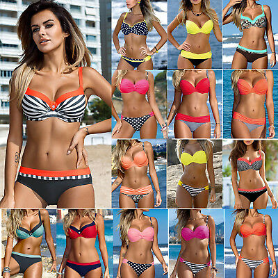 2018 Women Push-up Padded Bra Bandage Bikini Set Swimsuit Swimwear Bathing Suit