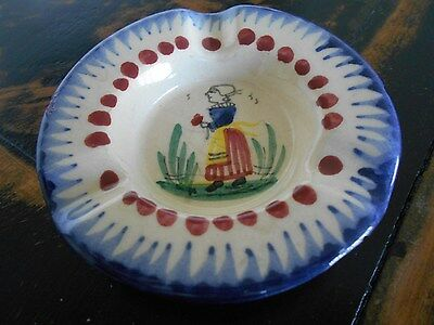 Antique Quimper Small Coin Pin Dish-A real vintage find