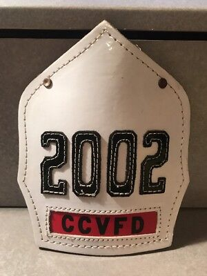 Cairns And Brother Leather Fire Helmet Front CCVFD Fire Department