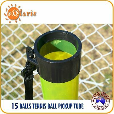 15-Ball Capacity Transparent Tennis Balls Pick Up Tube Clear Color Ball Hopper