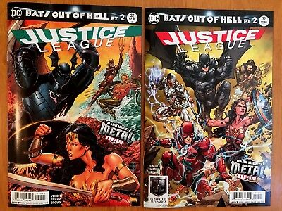 Justice League #32 (Main and Variant Cover) Dark Metal Tie In DC 2017 NM