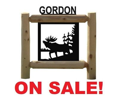 """Sale! Personalized Moose Sign   """"scratched On Back""""      #9"""