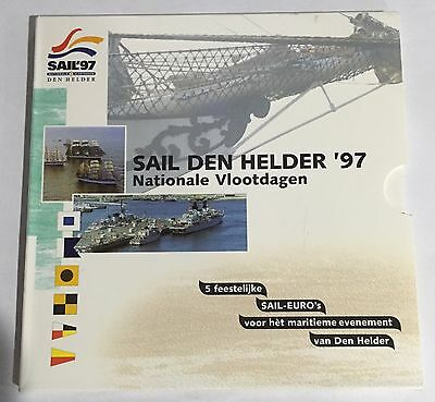Netherlands Sail Den Helder '97 5 2 Euro coin set in original packaging