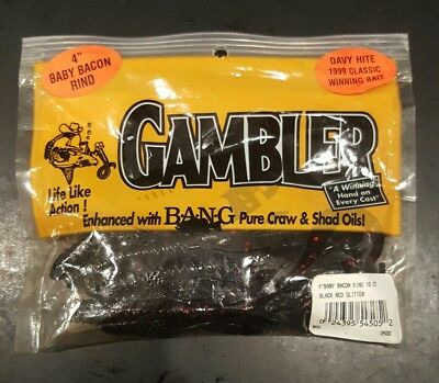 "Gambler 4/"" Bacon Rind 10pk Watermelon"
