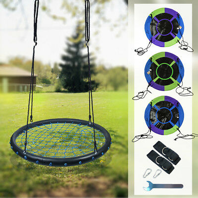 "100cm 40"" Mixed-Color Tree Swing Spinner Swing Saucer Nest Kids Swing Set Seat"
