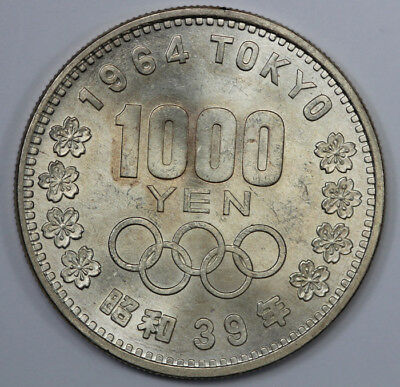 Japan 1964 'Olympic' Silver 1000 Yen. Lustrous Uncirculated