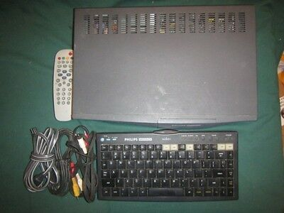 Philips Magnavox Web TV Internet Unit Wireless Keyboard Remote A/V & Power Cords