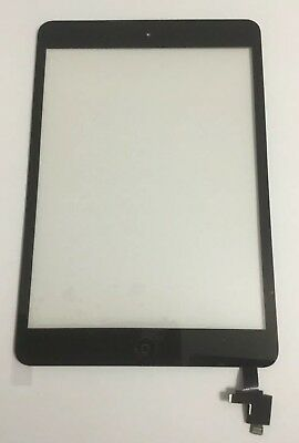 New iPad Mini 1 & 2 Glass Digitizer Touch Screen IC Chip Home Button BLACK