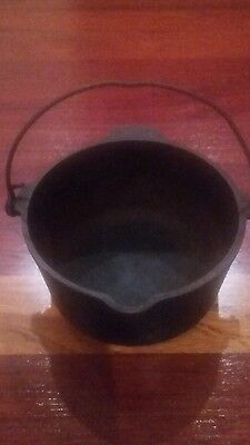 GRISWOLD Cast Iron Deep Patty Bowl #72 Wire Bail Handle  Erie, PA