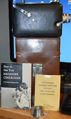VINTAGE Cine Kodak Royal 16mm Magazine Movie Camera + CARRY CASE MANUAL ADAPTER
