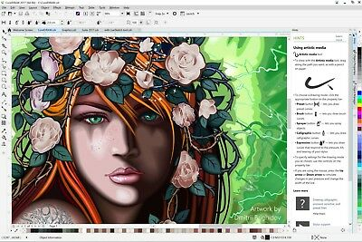 NEW COREL DRAW Graphics Design Suite X8 7/8/10 Full Version 3PC INSTANT DOWNLOAD
