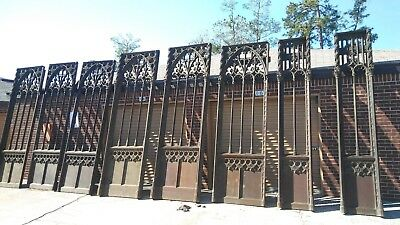 Heavy Carved Mansion Oak Designer Panels Monumental Monestary Masterpiece