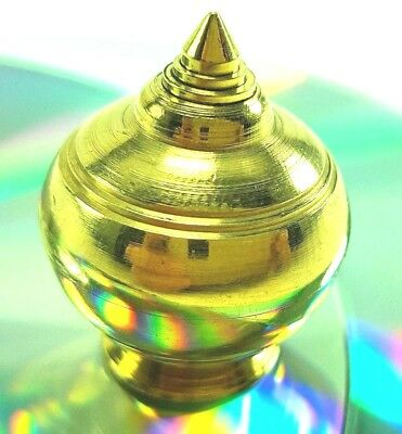 Thai Buddha Brass Casket Container For Relics Place In The Altar/temple/h3.7Cm