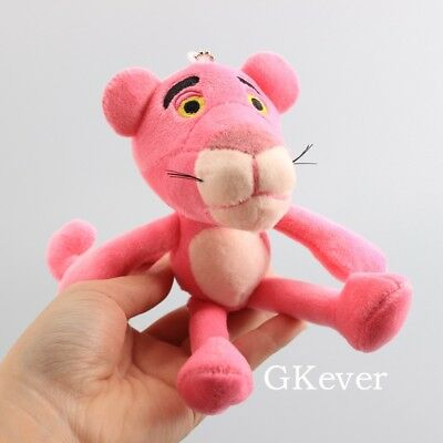 Pink Panther Plush Toy Soft Stuffed Animal Doll 18cm 7'' Keychain Pendant Gift