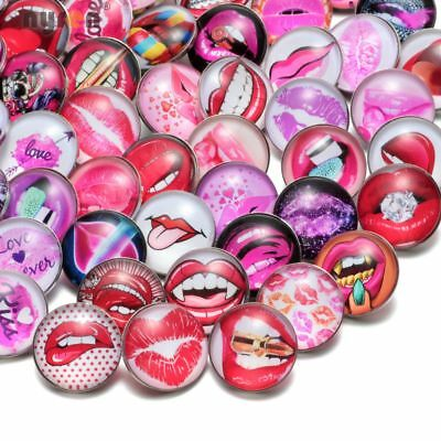 50pcs//lot 18mm Snap Button Painted Eggshell Glass Charms For Snap Jewelry HM037