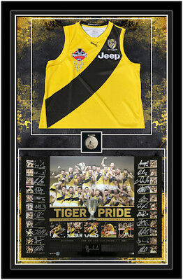 Richmond Tigers 2017 AFL Premiers Team Signed Display Clash Guernsey Framed