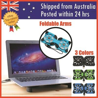 "Laptop Cooling Pad Fan Stand Notebook Cooler Cooling Stand Pad USB Fan For 7""-17"