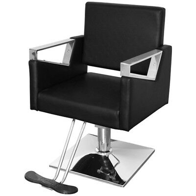 Adjustable Up Barber Chair Beauty Salon Hairdressing Chair PU Leather + Footrest