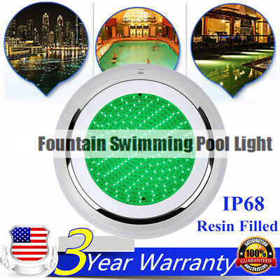 18W RGB multi-color 12V 230mm Resin Filled 252 LED swimming pool light Stainless