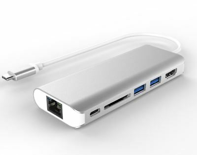 All-in-One Dock Thunderbolt USB-C 3.1 to HDMI+USB3.0+Gigabit LAN+PD Macbook Pro