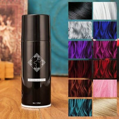 Temporary Crazy Hair COLOR SPRAY INSTANT COLOR Tinted Fashion Hair Dye 13 Colors
