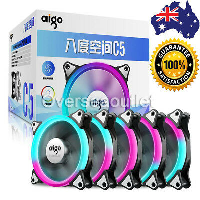 Aigo C5 Computer Case Cooler RGB Fan 120mm Silent Light Speed Adjustable