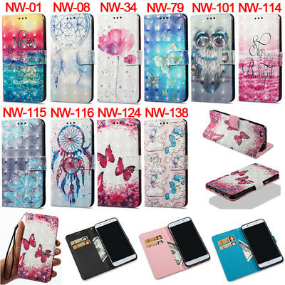 Unicorn Owl ID Wallet Leather Magnetic Flip Case Cover For Oppo R9s R11 A57 A59