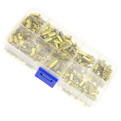 300X M3 Brass Gold Standoff Circuit Nut Spacer Hex 3mm Nut Screw Assortment Kit