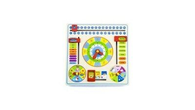Simply for Kids 35587 Houten Kalender Klok