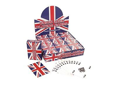 Cards Playing Union Jack Plastic Coated 9x6cm SALE!!!!